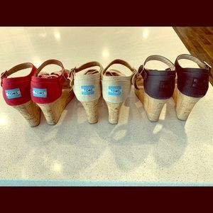3 Pairs of Toms Wedges!